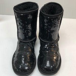 UGG Shoes - UGG | Black sequin ankle bootie 6